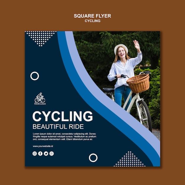 Radfahren quadratische flyer vorlage Kostenlosen PSD