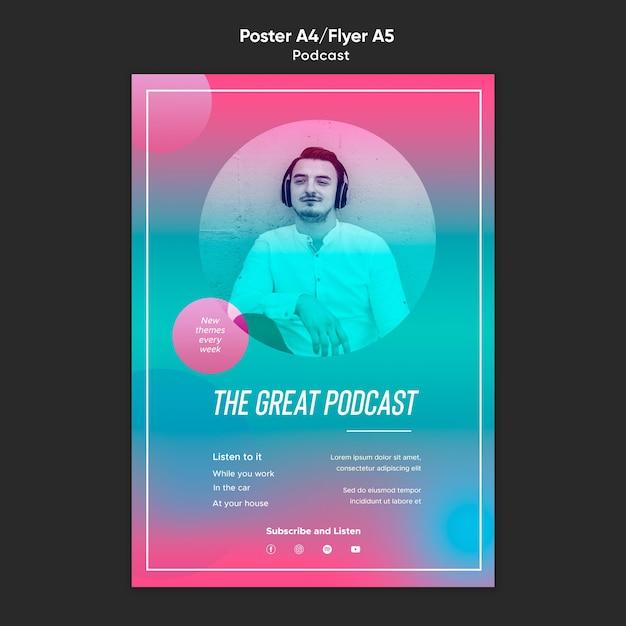 Radio podcast vorlage poster Kostenlosen PSD