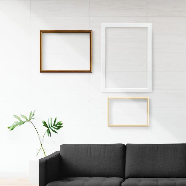 Rahmen in einem wohnzimmer Kostenlosen PSD