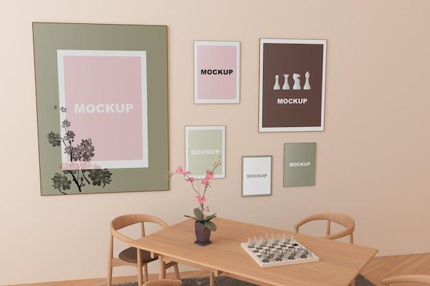Rahmenmodell im wohnzimmer Kostenlosen PSD