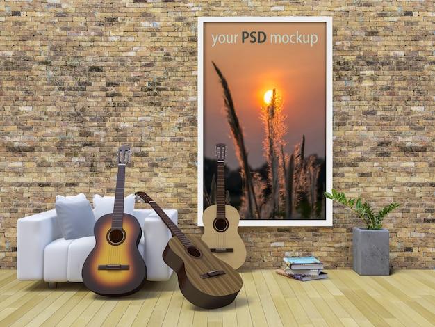 Rahmenmodell mit gitarren Premium PSD
