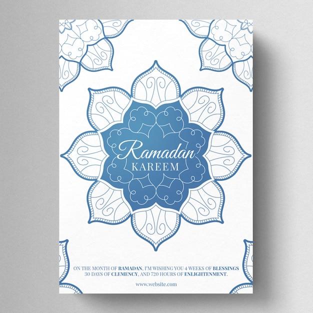 Ramadan kareem flyer vorlage Premium PSD