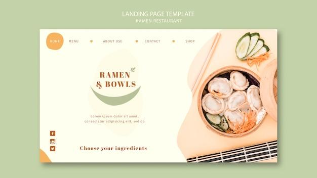 Ramen restaurant landingpage vorlage Kostenlosen PSD