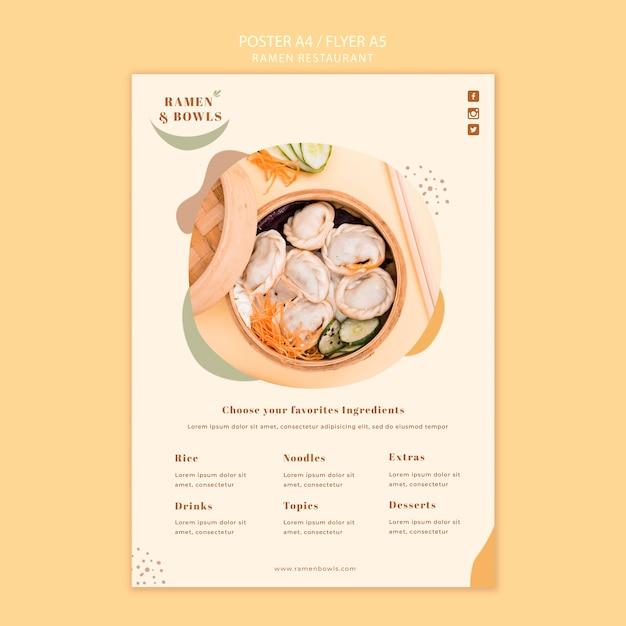 Ramen restaurant poster vorlage Kostenlosen PSD