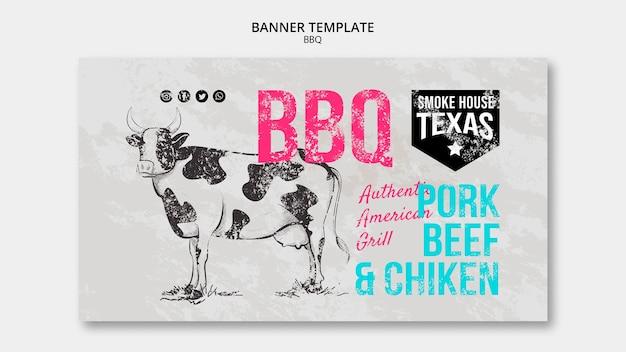 Rauchhaus texas grill banner vorlage Kostenlosen PSD