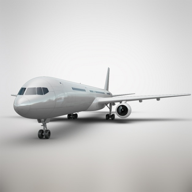 Realistische flugzeug präsentation Kostenlosen PSD