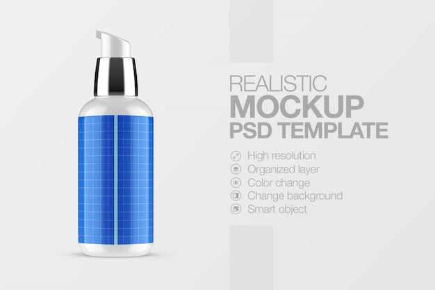 Realistische modell kosmetische sprühflasche Premium PSD