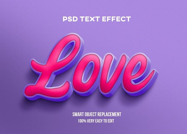 Realistische rote rosa lila lila texteffektschablone Premium PSD