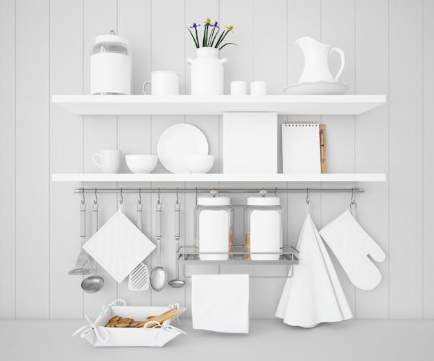Realistische utensilien küchenmodell Kostenlosen PSD