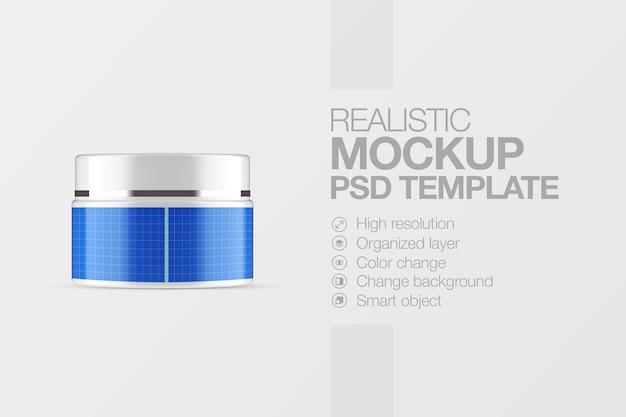 Realistischer modellkosmetiktopf Premium PSD