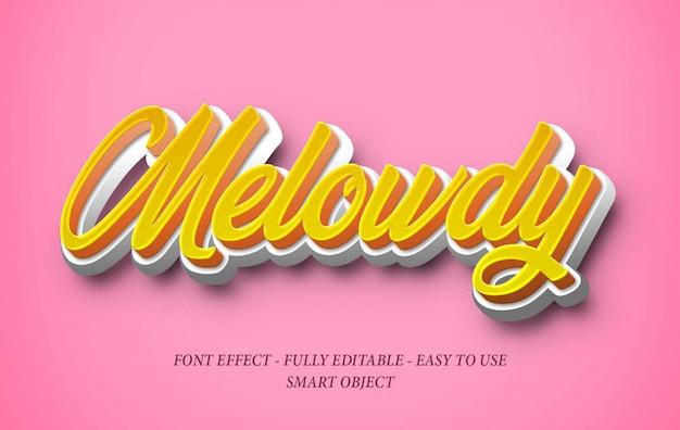 Realistischer soft candy 3d font effect Premium PSD