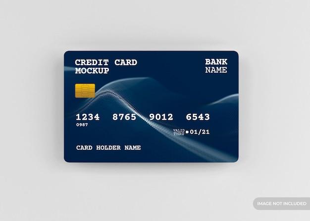 Realistisches kreditkartenmodellentwurf isoliert Premium PSD