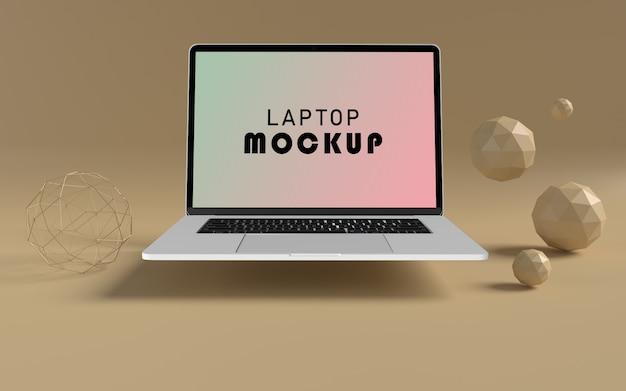 Realistisches laptop-vorderansicht-modell free psd Premium PSD