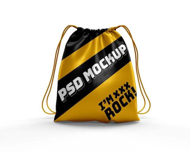 Realistisches modell des dynamischen rucksacks der kordeltasche Premium PSD