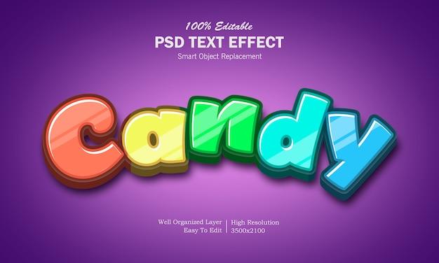 Regenbogen-bonbon-texteffekt Premium PSD