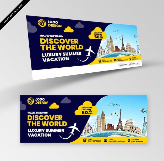 Reise-banner Premium PSD