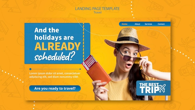 Reise-landingpage-vorlage Kostenlosen PSD