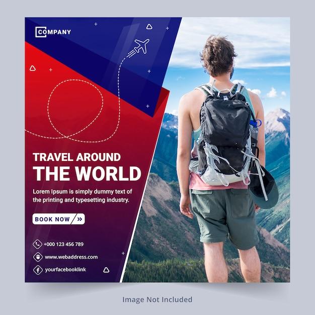 Reise-social media-banner-vorlage Premium PSD