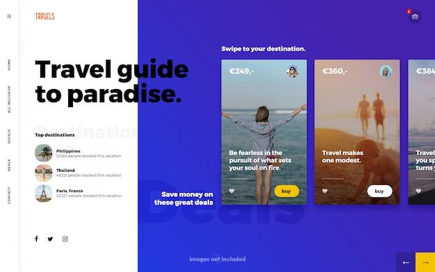 Reise sommer web template landingpage Premium PSD