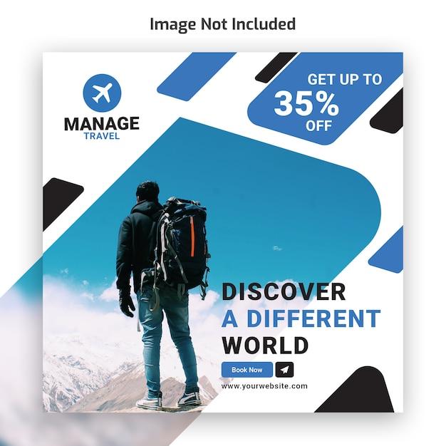 Reise tour instagram banner vorlage Premium PSD