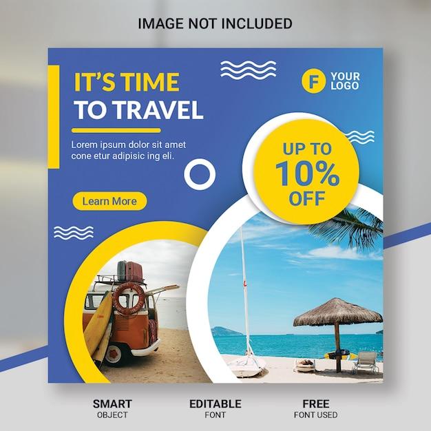 Reise tour instagram beitragsvorlage Premium PSD