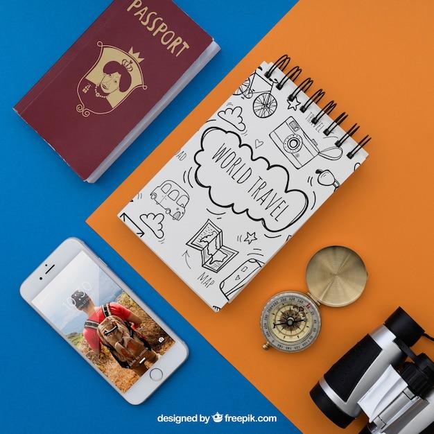 Reiseartikel Kostenlosen PSD