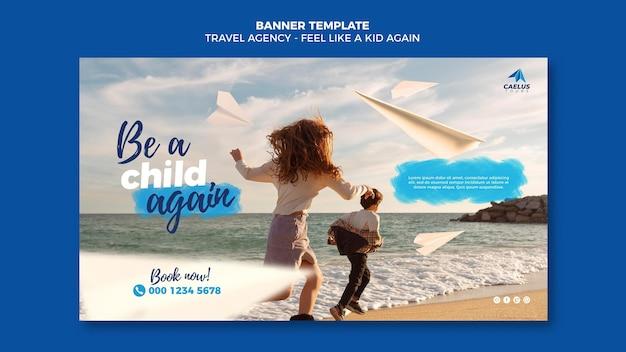 Reisebüro banner vorlage am meer Kostenlosen PSD