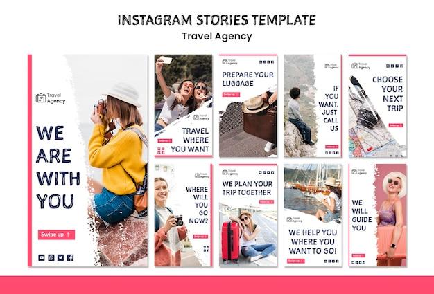 Reisebüro instagram geschichten Kostenlosen PSD