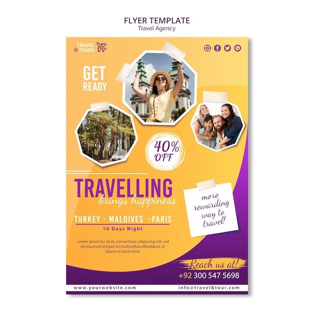 Reisebüro poster vorlage Kostenlosen PSD