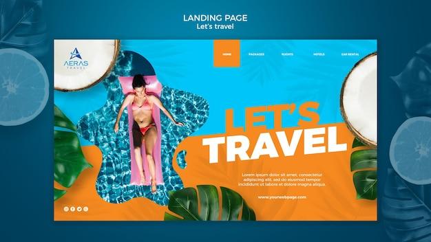 Reisekonzept landingpage vorlage Kostenlosen PSD