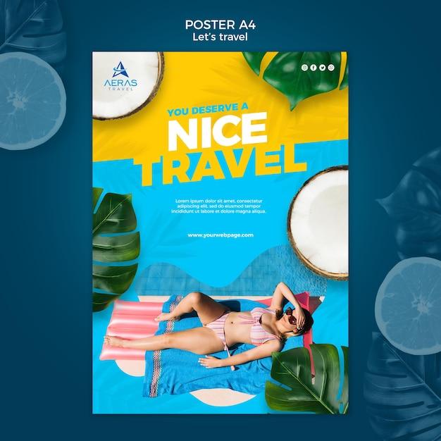 Reisekonzept poster vorlage Kostenlosen PSD