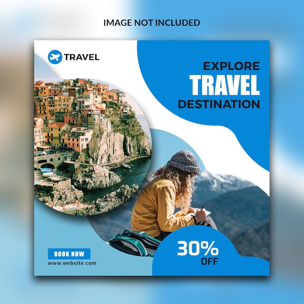 Reisepost für social media Premium PSD