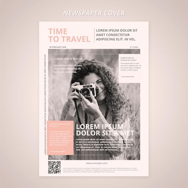 Reisezeitung vorlage cover Kostenlosen PSD