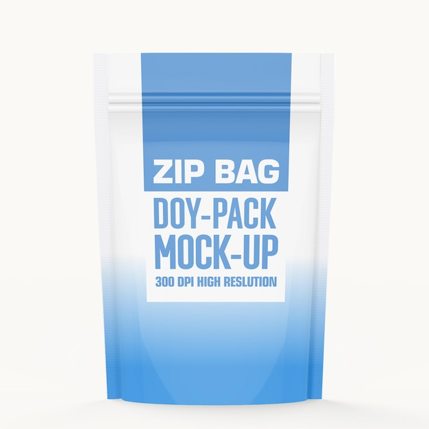 Reißverschlusstasche mock-up Premium PSD