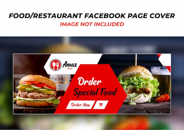 Restaurant facebook header cover design psd vorlage Premium PSD