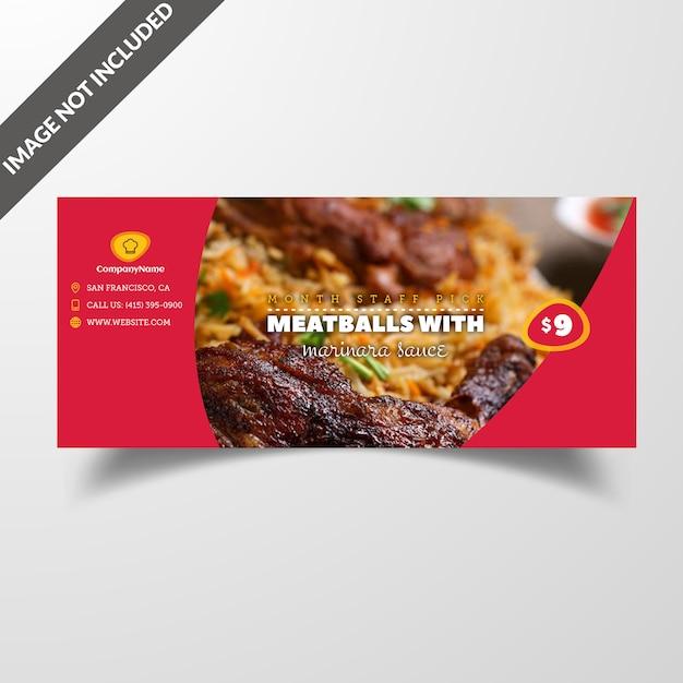 Restaurant-food-social-media-cover & beitrag vorlage premium vector Premium PSD