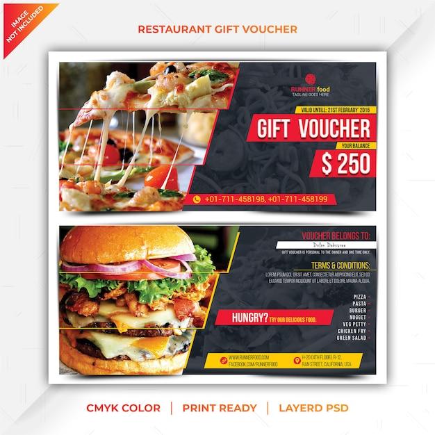 Restaurant-geschenkgutschein Premium PSD