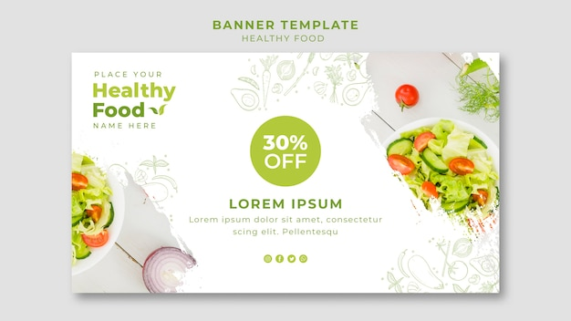 Restaurant horizontale banner vorlage Kostenlosen PSD