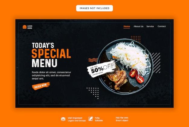 Restaurant landing page vorlage Premium PSD