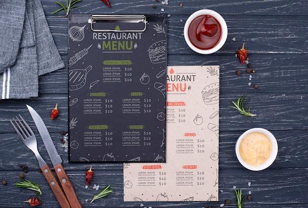Restaurant-menü-konzept-modell Kostenlosen PSD