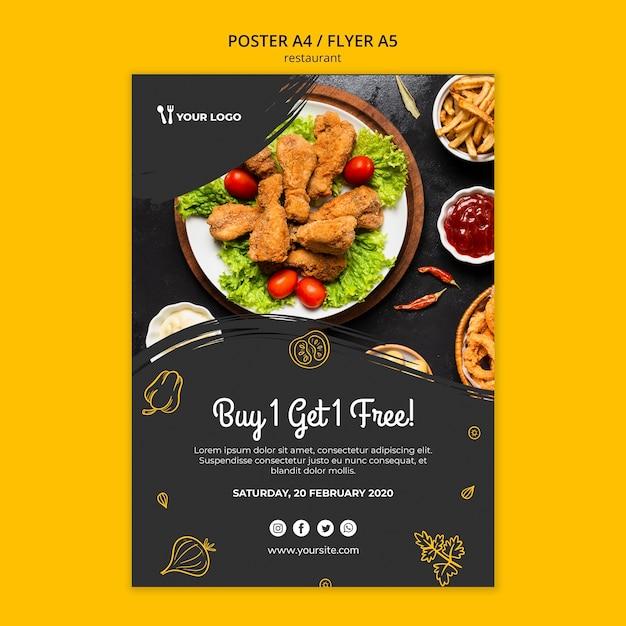Restaurant poster vorlage Kostenlosen PSD