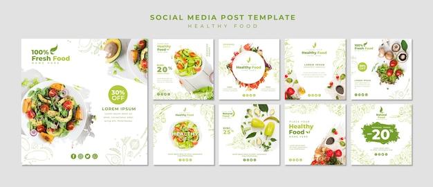 Restaurant social media beitragsvorlage Kostenlosen PSD