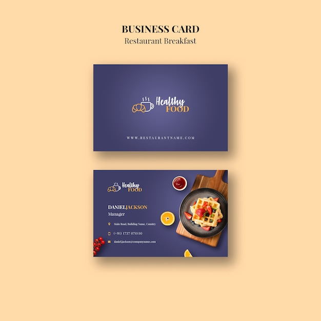 Restaurant Visitenkarte Vorlage Kostenlose Psd Datei