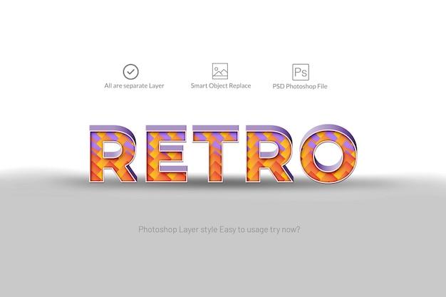 Retro 3d abstrakte texteffekt Premium PSD