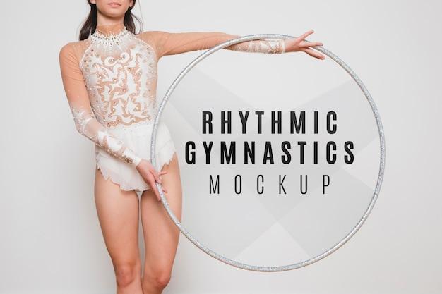 Rhythmische gymnastik nahaufnahme Kostenlosen PSD