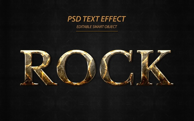 Rock text effekt design vorlage Premium PSD