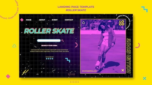 Rolling skate konzept landingpage vorlage Premium PSD