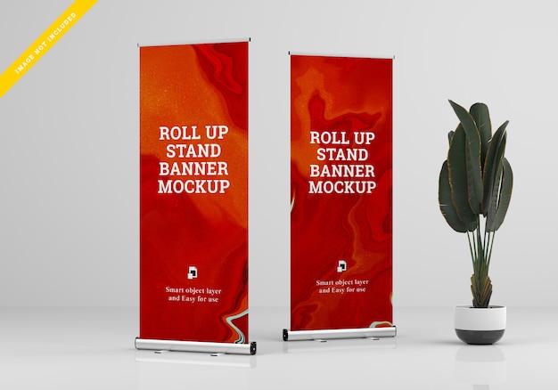 Rollup xbanner stand mockup. vorlage psd. Premium PSD