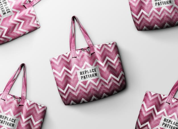 Rosa einkaufstasche werbemodell Premium PSD