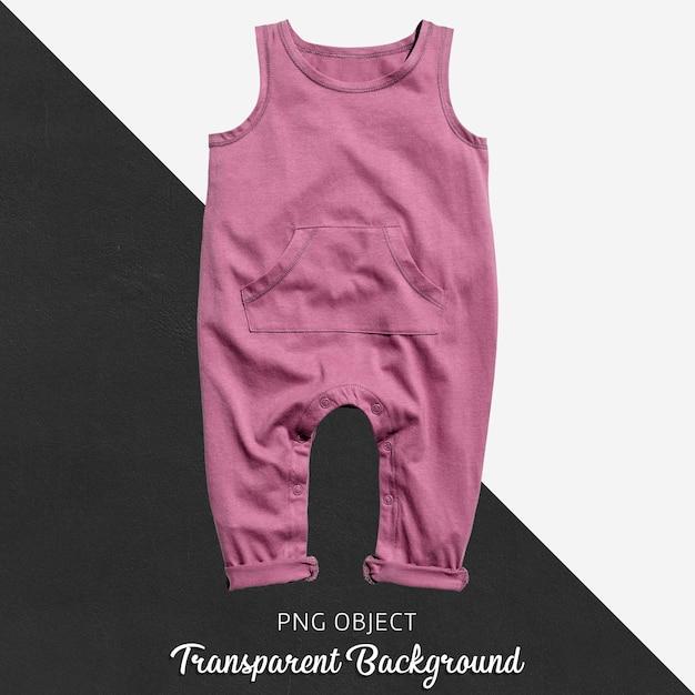 Rosa overall für baby oder kinder auf transparentem hintergrund Premium PSD